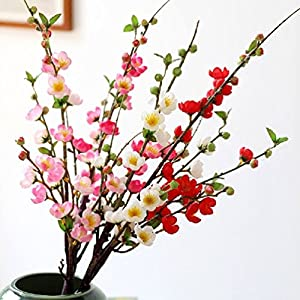 Artificial Silk Plum Flower Artificial Plants Tree Branch For Flower 67