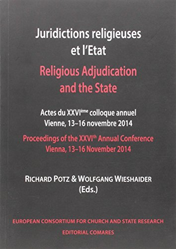 Descargar Libro Juridictions Religieuses Et L'etat / Religius Adjudication And The State Aa.vv.