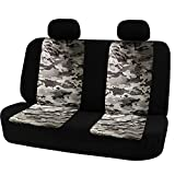 camouflage big truck seat covers - Universal Rear Seat Cover Safety Belts Access with Breathable Camouflage Mesh-Big Ant Car Back Bench Seat Covers for Most Car, Truck, SUV, or Van (Side Airbag compatible),2 Removable Headrests