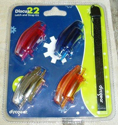 Discus 22 Latch & Strap Kit: 4 Color Latches & Black Strap