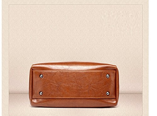 Hombro Rosa Sesgar Moda Cera Retro Casual Handbag Aceite Gwqgz Solo Spanning Brown Lady La Bolsa z7O5n7qF