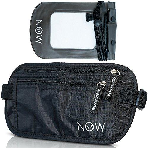 hidden-black-rfid-money-belt-w-waterproof-pouch-for-travel-running-swimming-hiking-biking-walking-do