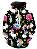 KIDVOVOU Unicorn Hoodie for Kids Unisex 3D Digital Print Pullover Sweatshirt