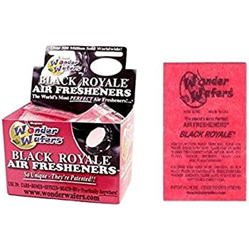 Wonder Wafers 50 Count INDIVIDUALLY WRAPPED Automobile Professional Use Air Fresheners Car and Truck Detail Black Royale