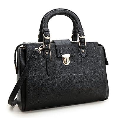 Dasein Women's Designer Pebbled Top Handle Satchel Handbag Shoulder Bag Work Bag Purse With Strap