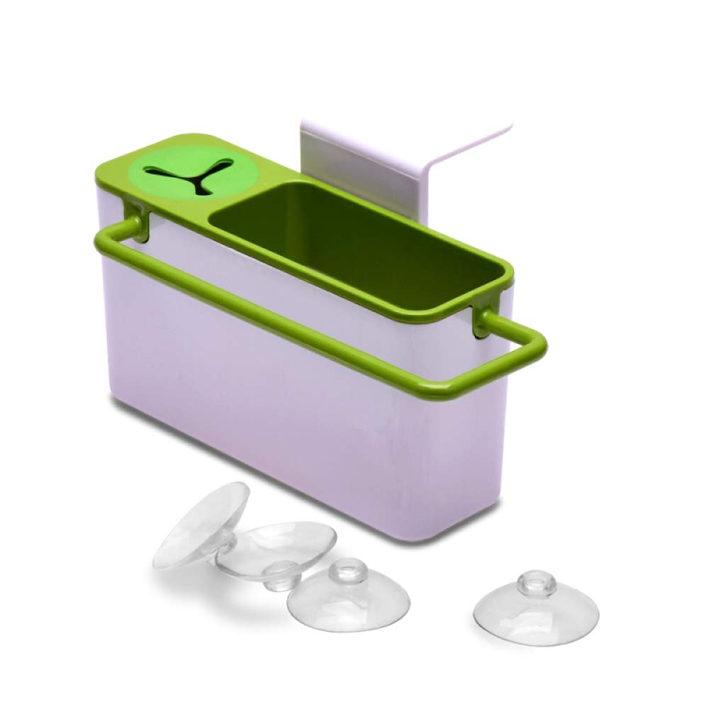 Sink Aid Self-Draining Utensil Organizers Sink Caddy, kitchen shelf, self-draining sink tidy, Sponge Holder and Brush Holder- Green