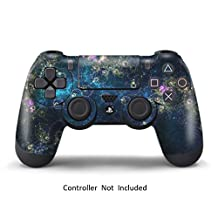 PS4 Leather Texture Controller Skin - Custom Playstation 4 Remote Vinyl Sticker - Sony Play Station 4 Joystick Decal - Universe