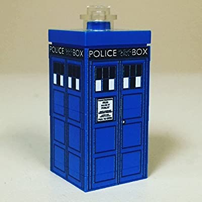 Custom Doctor Who MINI TARDIS set made from Genuine LEGO elements