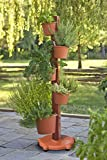 My Garden Post 5 Planter Vertical Gardening System Finish, Terracotta