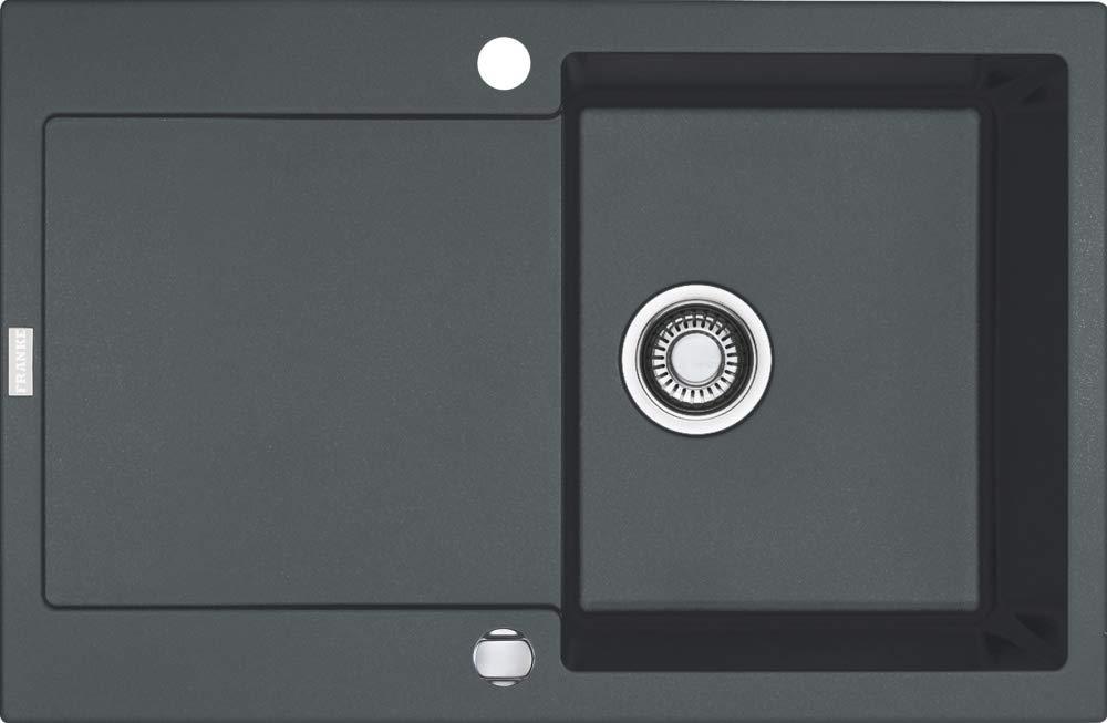 montaje reversible Franke Maris MRG 611 Fragranite DuraKleenPlus 1140055693 Fregadero empotrable color negro