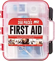 M2 BASICS 350 Piece Professional First Aid Kit | Mountable Hard Case with Dual-Layer Organizers for Business,
