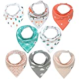 Baby Bandana Drool Bibs for Girls by Matimati, Super...