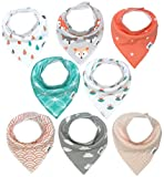Baby Bandana Drool Bibs for Girls by
