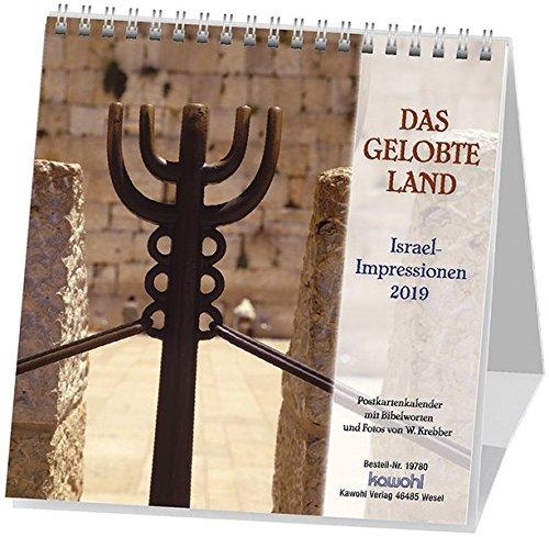 Das Gelobte Land 2019: Postkarten-Kalender mit Israel-Motiven und Bibelworten