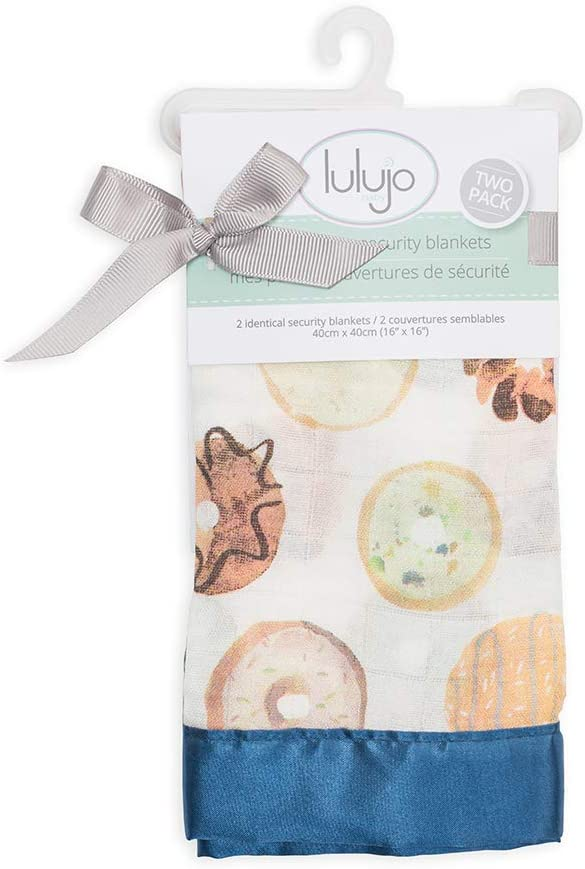 Donuts Lulujo Lulujo Security Blankets Bamboo Cotton