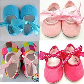 a75655fc26f2 Amazon.com   Baby Crib Shoes Anti-slip Prewalker (0-3 Month