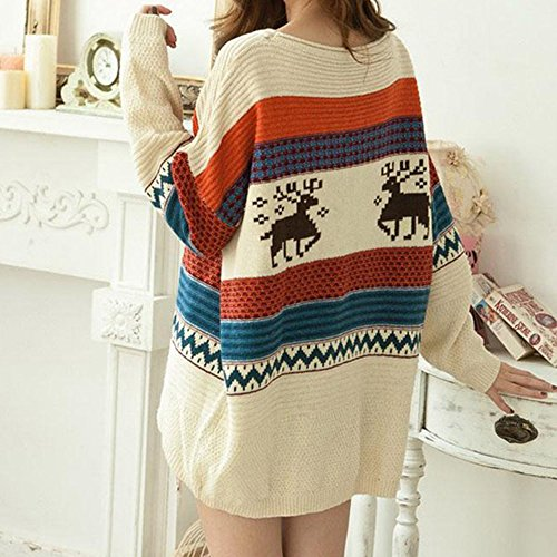 Fashiomy Girl's Knitted Sweater Autumn Winter Casual Coat Jacket Top (Yellow) by Fashionmy (Image #3)
