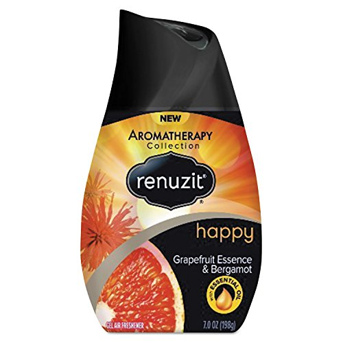 Renuzit Dia 01624 DIA01623CT Adjustable Air Freshener, Grapefruit Essence and Bergamot, 7 oz, Orange/Yellow (Pack of 12) (Wal Mart Spa)