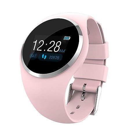 UKCOCO Reloj inteligente Bluetooth, monitorización del sueño con ritmo cardíaco resistente al agua, cuenta