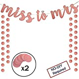 Bachelorette Party Decor Miss To Mrs Banner For Rose Gold Glitter Wedding Bridal Shower Party Supplies