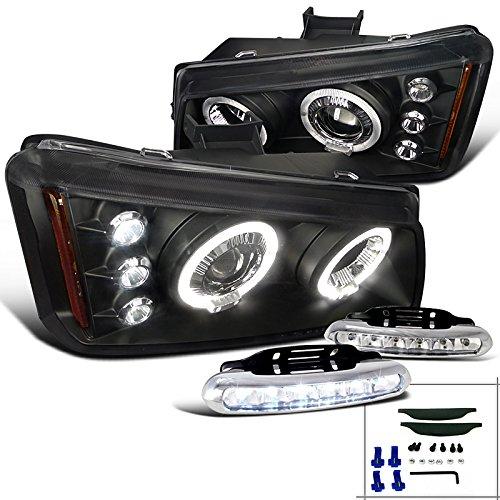 Chevy Silverado Avalanche Black Halo Projector Headlights+LED Bumper Fog Lights