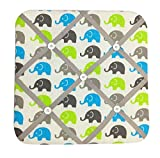 Bacati Elephants Unisex Fabric Memory/Memo Photo Bulletin Board, Aqua/Lime/Grey