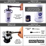 "INNOVANT Adjustable 3 Jaw Oil Filter Wrench tool best for removing motorcycles cars trucks and heavy duty oil filters fits diameter from 54 - 116 mm (2 1/8"" Inch - 4 1/2"" Inches) Fits ⅜ And ½"" Drive"