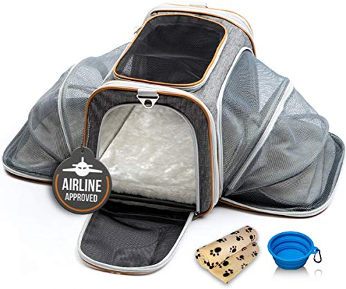 - PETYELLA Airline Approved Pet Carrier + Fleece Blanket & Bowl - 100% Lifetime Satisfaction