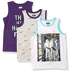 Amazon Brand – Spotted Zebra Boys Disney Star Wars Marvel Sleeveless Tank Top T-Shirts