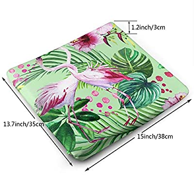 Sanghing Customized Pink Flamingo and Flowers Pattern Seamless Watercolor 1.18 X 15 X 13.7 in Cushion, Suitable for Home Office Dining Chair Cushion, Indoor and Outdoor Cushion.: Home & Kitchen
