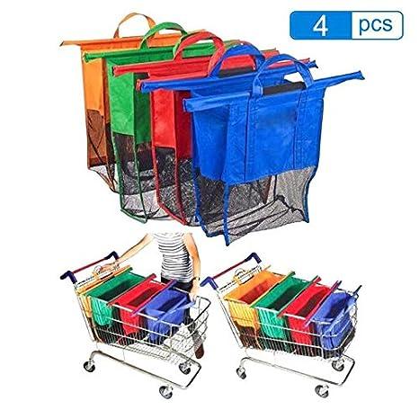 Amazon.com: 4pcs/Set Thicken Cart Trolley Supermarket ...