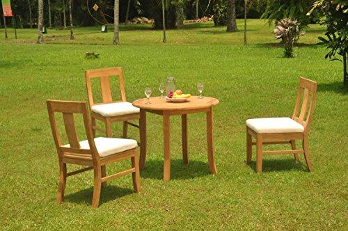 (TeakStation 3 Seater Grade-A Teak Wood 4 Pc Dining Set: 36