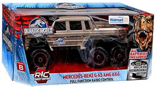 Jurassic World Mercedes-Benz G63 AMG 6X6 R/C Car by Jada ...