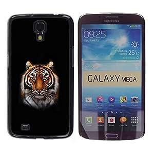 Estuche Cubierta Shell Smartphone estuche protector duro para el teléfono móvil Caso Samsung Galaxy Mega 6.3 I9200 SGH-i527 / CECELL Phone case / / Tiger Portrait Jungle Big Cat Whiske