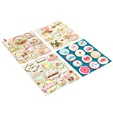 FaCraft Scrapbook Stickers 3D Self-Adhesive Stickers Vintage Scrapbooking Supplies Embellishments,For Love, 40 Pieces Assorted Colors/Designs