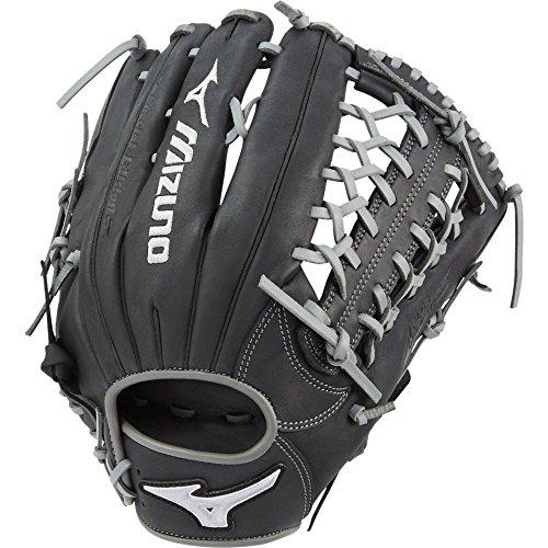 12.75 In Outfield Baseball Glove (Mizuno MVP Prime SE GMVP1275PSE6 Outfield Model Gloves, Black/Smoke, 12.75