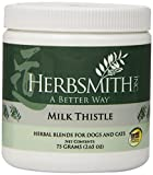 Herbsmith Milk Thistle Herbal Supplement for Dogs and Cats, 75gm Powder