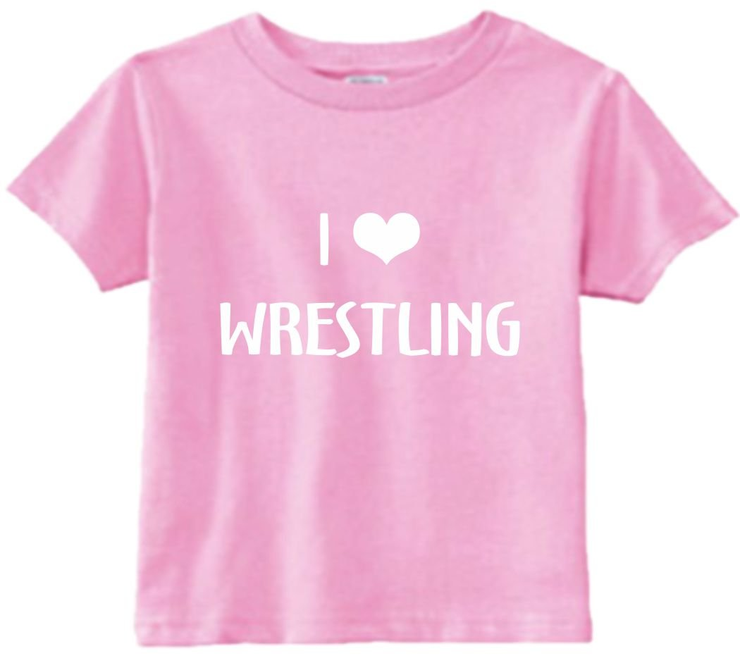 Funny Baby T-Shirt Size 2T (I Love (Heart) Wrestling) Toddler Tee Shirt