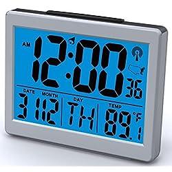 Atomic Desk/bedroom Alarm Clock-1.5 Time Number, Back Blue Light by Ken-Tech