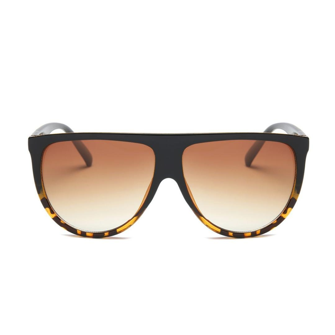 OverDose, Unisex Lunettes De Soleil Yeux De Chat à Verres Plats Et Monture CarréE Aviator Mirror Lens Sunglasses (G)