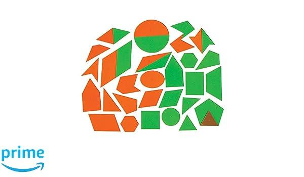 Amazon ETA Hand2mind AlphaShapes Geometric Tiles Set Of 52 Industrial Scientific
