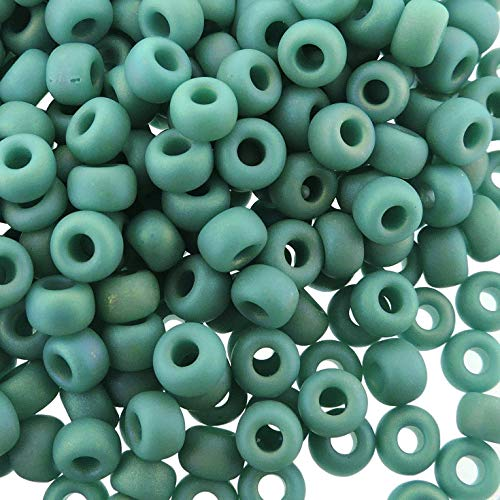 (Miyuki Round Rocaille Seed Beads Size 6/0 20G-Tube Matte Opaque Turquoise Green AB)