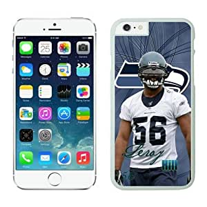 Seattle Seahawks Leroy Hill Case For iPhone 6 Plus White 5.5 inches
