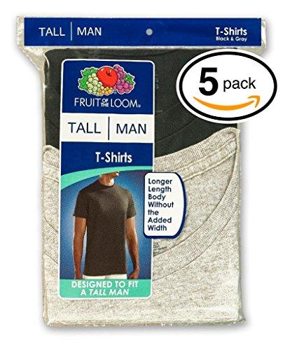 fruit-of-the-loom-mens-5pack-tall-black-grey-crewneck-t-shirts-undershirt-3xl