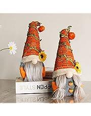 2 stuks herfst Thanksgiving kabouter pluche herfst handgemaakte Zweedse zonnebloem pop Thanksgiving dag geschenk tafel ornament huiswarming aanwezig