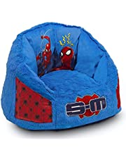 Spider-Man Cozee Fluffy Chair with Memory Foam Seat by Delta Children, Kid Size (For Kids Up To 10 Years Old)