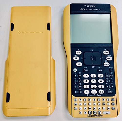 """Texas Instruments TI Nspire Graphing Calculator with Nspire & TI-84Plus Keypads- Yellow """"School Edition"""""""