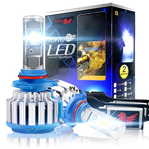 Win Power 9006 LED Headlight Bulbs Conversion Kit 6000k Cool White 7200 Lumens HB4 Cree Fog Lights/Low Beam Headlight Bulb Replacement+ Canbus(1 Pair)-2 Year Warranty (6000k Led 9006 Bulb)