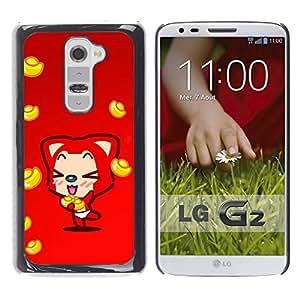 Exotic-Star ( Cute Fox ) Fundas Cover Cubre Hard Case Cover para LG G2 / D800 / D802 / D802TA / D803 / VS980 / LS980