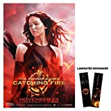 "Hunger Games: Catching Fire (2013) Movie Poster Reprint 13"" x 19"" Borderless K2 + Laminated Bookmark"